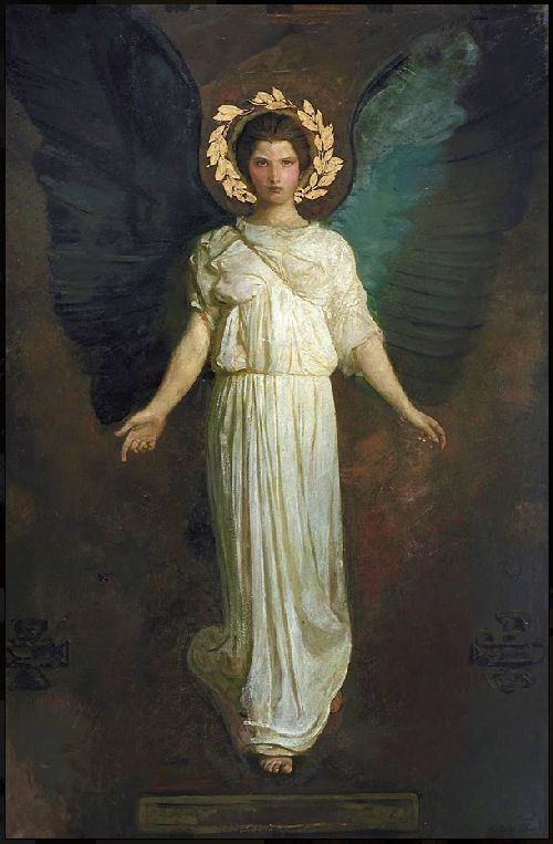 A Winged Figure   Abbott Handerson Thayer   oil painting