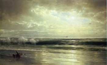 On the Coast of New Jersey | William Trost Richards | oil painting