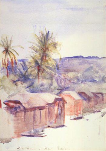 Village Street Dominica | Abbott Handerson Thayer | oil painting