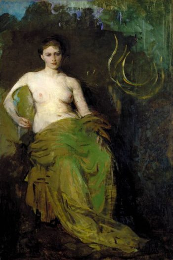 Half Draped Figure | Abbott Handerson Thayer | oil painting