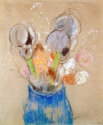 Bouquet of Flowers Irises | Odilon Redon | oil painting