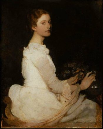 Girl in White | Abbott Handerson Thayer | oil painting