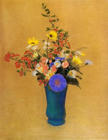 Bouquet of Wild Flowers | Odilon Redon | oil painting