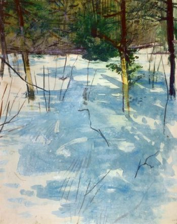 Winter Monadnock | Abbott Handerson Thayer | oil painting