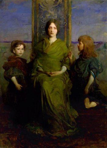 Virgin Enthroned | Abbott Handerson Thayer | oil painting
