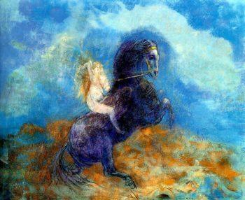 Brunhild | Odilon Redon | oil painting