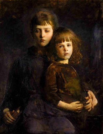 Brother and Sister | Abbott Handerson Thayer | oil painting