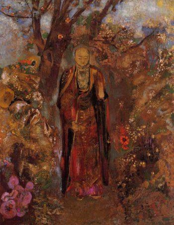 Buddah Walking among the Flowers | Odilon Redon | oil painting
