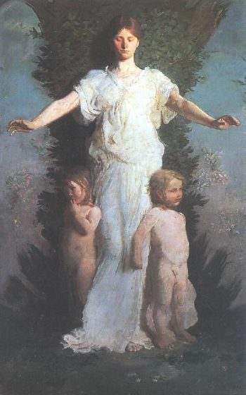 Caritas | Abbott Handerson Thayer | oil painting