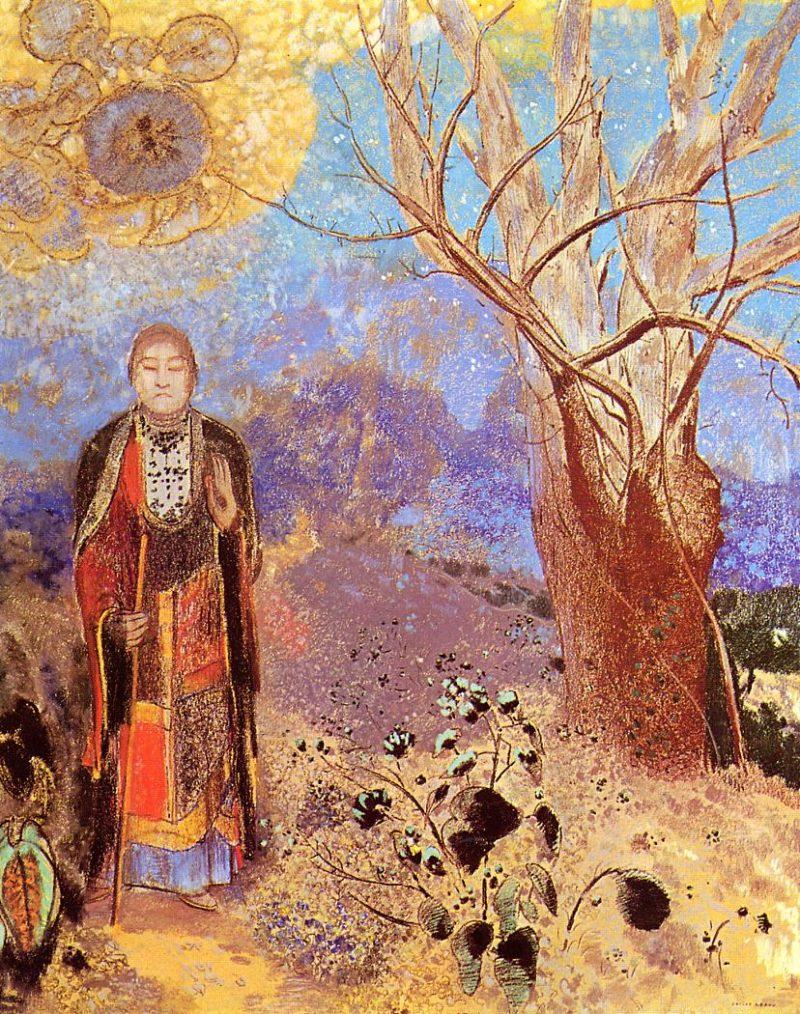 Buddah   Odilon Redon   oil painting