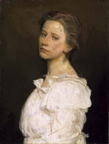 Young Woman in White | Abbott Handerson Thayer | oil painting