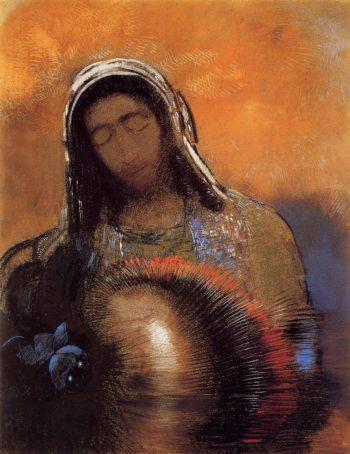 Buddha | Odilon Redon | oil painting