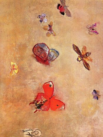 Butterflies | Odilon Redon | oil painting