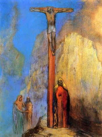 Calvary | Odilon Redon | oil painting