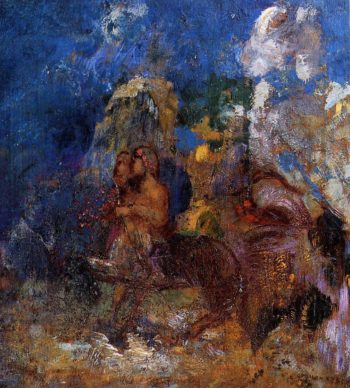 Centaurs | Odilon Redon | oil painting