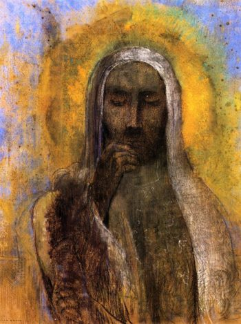 Christ in Silence | Odilon Redon | oil painting