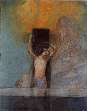 Christ on the Cross | Odilon Redon | oil painting