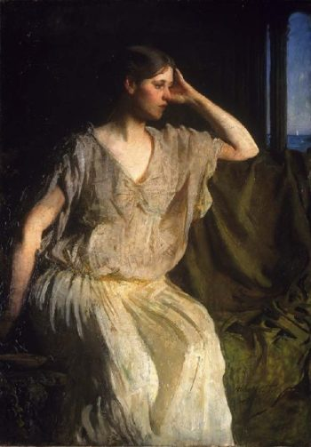 Woman in Grecian Gown | Abbott Handerson Thayer | oil painting