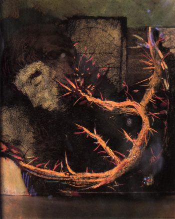 Christ with Red Thorns | Odilon Redon | oil painting