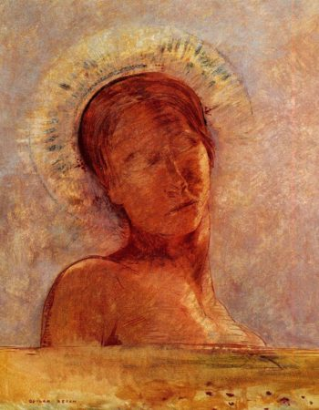 Closed Eyes | Odilon Redon | oil painting