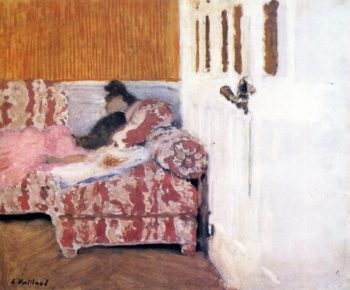 On the Sofa | Edouard Vuillard | oil painting