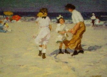 Ocean Breezes | Edward Potthast | oil painting