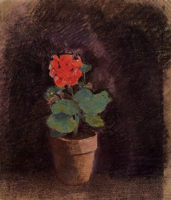Geranium   Odilon Redon   oil painting