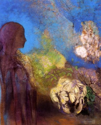 Girl with Chrysanthemums | Odilon Redon | oil painting