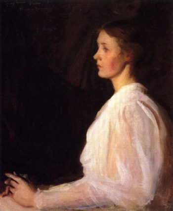 Seated Figure | Frank W Benson | oil painting