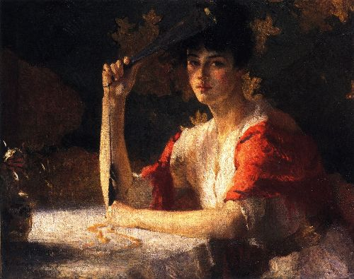 Red and Gold | Frank W Benson | oil painting