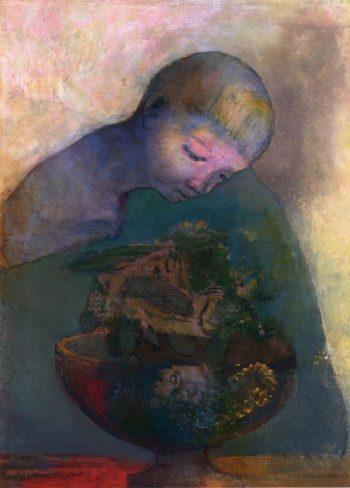 La Coupe du Devenir   Odilon Redon   oil painting