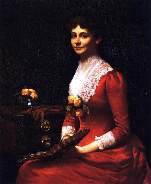 Margaret Washburn Walker   Frank W Benson   oil painting