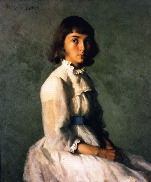My Sister | Frank W Benson | oil painting
