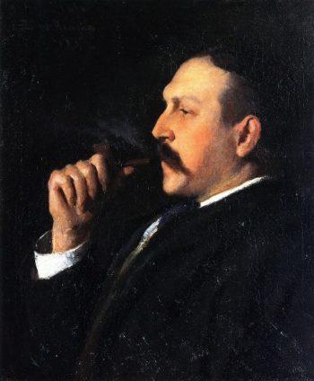 Alexander Pope   Frank W Benson   oil painting
