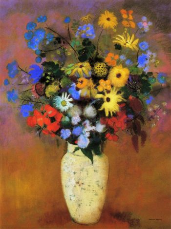Large Bouquet in a Japanese Vase | Odilon Redon | oil painting