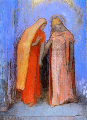 Mystical Conversation | Odilon Redon | oil painting