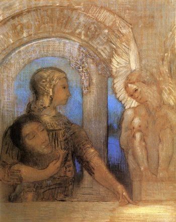 Mystical Knight   Odilon Redon   oil painting