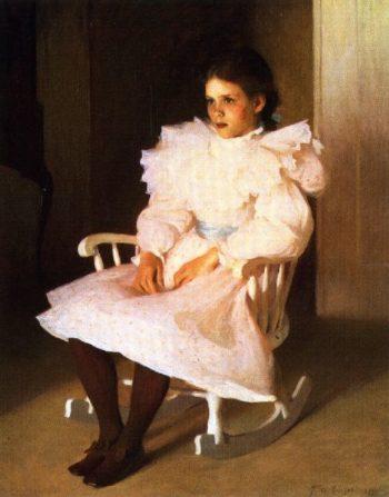 Gertrude   Frank W Benson   oil painting