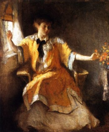 Young Girl by a Window | Frank W Benson | oil painting