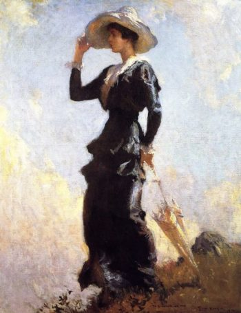 The Hill Top | Frank W Benson | oil painting
