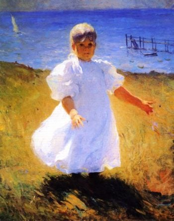 Child in Sunlight | Frank W Benson | oil painting
