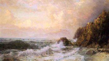 Rough Seas Near Snow Capped Mountains | William Trost Richards | oil painting