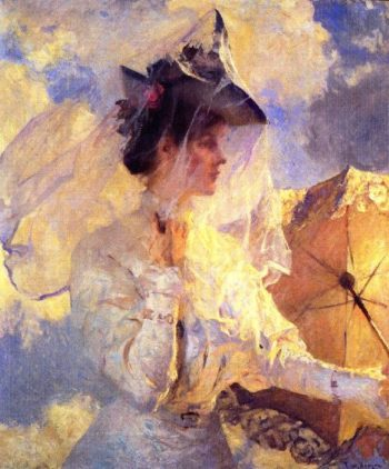Against the Sky | Frank W Benson | oil painting