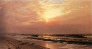 Seascape at Sunset | William Trost Richards | oil painting