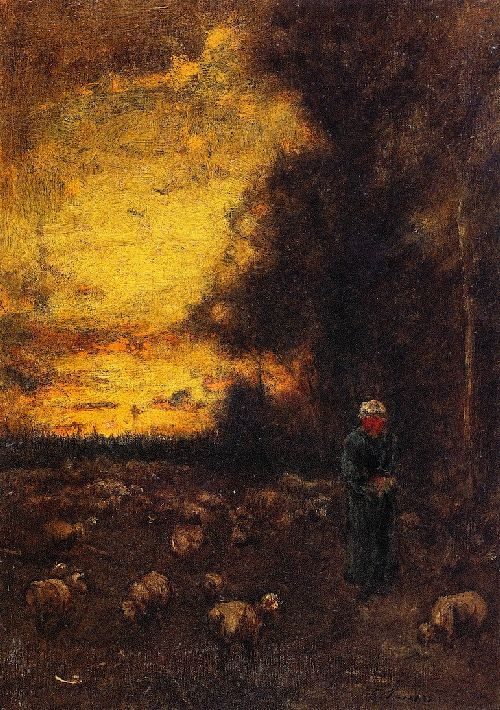 End of Day Montclair   George Inness   oil painting