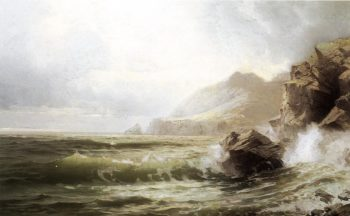 Sleive League Donegal Ireland | William Trost Richards | oil painting