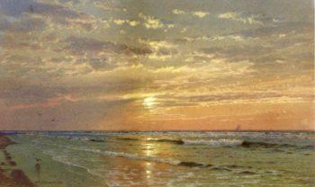 Sunrise Atlantic City | William Trost Richards | oil painting