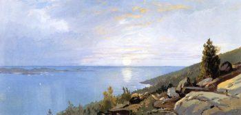 Sunrise over Schoodic | William Trost Richards | oil painting