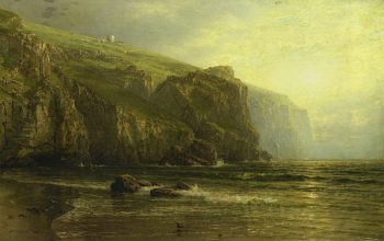 Sunset along the Coast of Cornwallc | William Trost Richards | oil painting