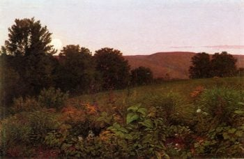 Sunset on the Meadow | William Trost Richards | oil painting